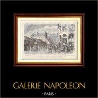 History and Monuments of Paris - Market - Marché du Temple (France)