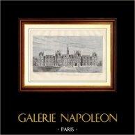 Histoire et Monuments de Paris - L'Hôtel de Ville de Paris après sa Reconstruction | Gravure sur bois dessinée par Clerget, gravée par Daudenarde. 1881