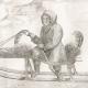 DÉTAILS 04   Kamtschadale dans son Traineau tiré par des Chiens (Itelmènes - Kamtchatka - Russie)