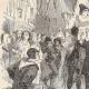 DÉTAILS 03   Révolte des Maillotins sous Charles VI - Huissier à Cheval aux Halles
