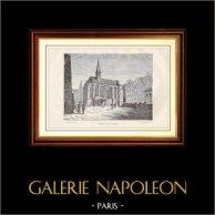 Gammalt Kapell av Karmelitorden i Paris | Trästick efter teckningar av Bouwenne, graverade av Clepeux. 1881
