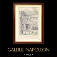 Louvre Restauré - Pavillon de Charles IX (Paris) | Gravure sur bois dessinée par H. Catenecci, gravée par A. Veillets. 1881