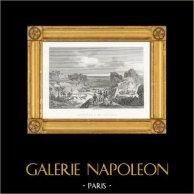 Guerres Napoléoniennes - Napoléon à Sainte Hélène | Gravure sur acier originale dessinée et gravée par Couché Fils. 1820