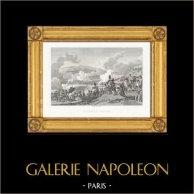 Guerres Napoléoniennes - La Bataille d'Iéna (1806) | Gravure sur acier originale dessinée et gravée par Couché Fils. 1820