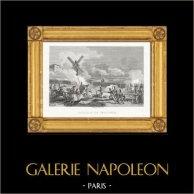 Guerres Napoléoniennes - La Bataille de Smolensk (1812) | Gravure sur acier originale dessinée et gravée par Couché Fils. 1820