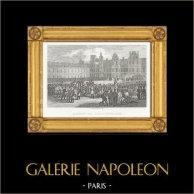 Guerras Napoleónicas - Salida de Napoleón para Santa Helena - Adioses de Fontainebleau (1814)