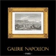 Guerres Napoléoniennes - Arrivée de Napoléon au Camp de Boulogne (1804) | Gravure sur acier originale dessinée et gravée par Couché Fils. 1820