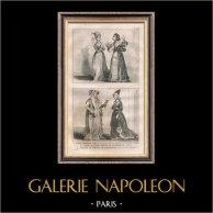 Moda Francesa y Trajes - Estilo Siglo 15 / XV - Corte del Rey de Francia - Carlos VI y Carlos VII (1400 / 1422 / 1430)