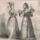 DETALLES 04   Moda Francesa y Trajes - Estilo Siglo 15 / XV - Corte del Rey de Francia - Carlos VI y Carlos VII (1400 / 1422 / 1430)