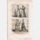 DETALLES 06   Moda Francesa y Trajes - Estilo Siglo 15 / XV - Corte del Rey de Francia - Carlos VI y Carlos VII (1400 / 1422 / 1430)