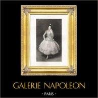 Carmencita - Danzatrice Americana (John Singer Sargent) | Fotoincisione originale. Anonyme secondo J.S. Sargent. 1892