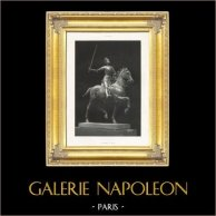 Bronzo - Statua Equestre di Giovanna d'Arco (Paul Dubois) | Fotocalcografia originale. Anonyme secondo P. Dubois. 1895