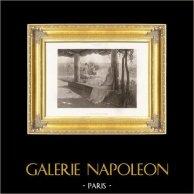Angeli - Il Riposo del Vergine (Edouard Jerôme Paupion) | Fotocalcografia originale. Anonyme secondo E.J. Paupion. 1896