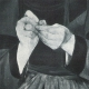 DETALLES 04 | Mujer de Bretaña - Bretona con una Aguja Costura (Léopold Stevens)