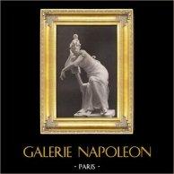 Skulptur - Staty - Kvinna - Under Imperium (Georges Van der Straeten) | Original fotogravyr. Anonymt efter G. Van der straeten. 1894