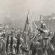 DÉTAILS 05   Régiments de Cavalerie - Cuirassiers - Présentation de l'étendard aux Recrues (Louis Auguste Georges Loustaunau)