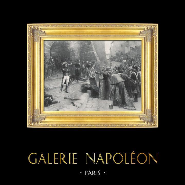 Gravures Anciennes & Dessins | Napoléon Bonaparte - La Révolte de Pavie (Paul-Emile Boutigny) | Photogravure | 1895