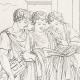 DÉTAILS 04   Mythologie - Nymphe - Anges - Renaissance Italienne - Les Amours de Psyché et de Cupidon (Eros) : Le Repas de Psyché (Raffaello Sanzio dit Raphaël)