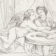 DÉTAILS 05   Mythologie - Nymphe - Anges - Renaissance Italienne - Les Amours de Psyché et de Cupidon (Eros) : Le Repas de Psyché (Raffaello Sanzio dit Raphaël)