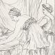 DÉTAILS 06   Mythologie - Nymphe - Anges - Renaissance Italienne - Les Amours de Psyché et de Cupidon (Eros) : Le Repas de Psyché (Raffaello Sanzio dit Raphaël)