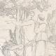 DÉTAILS 04   Mythologie - Renaissance Italienne - Les Amours de Psyché et de Cupidon (Eros) : Vénus (Aphrodite) Ordonne à Psyché de lui Apporter Les Toisons d'Or (Raffaello Sanzio dit Raphaël)