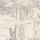 DÉTAILS 08   Mythologie - Renaissance Italienne - Les Amours de Psyché et de Cupidon (Eros) : Vénus (Aphrodite) Ordonne à Psyché de lui Apporter Les Toisons d'Or (Raffaello Sanzio dit Raphaël)