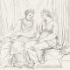 DÉTAILS 04   Mythologie - Renaissance Italienne - Les Amours de Psyché et de Cupidon (Eros) : Les Soeurs de Psyché devenues Reines (Raffaello Sanzio dit Raphaël)