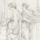 DÉTAILS 05   Mythologie - Renaissance Italienne - Les Amours de Psyché et de Cupidon (Eros) : Les Soeurs de Psyché devenues Reines (Raffaello Sanzio dit Raphaël)