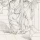 DÉTAILS 06   Mythologie - Renaissance Italienne - Les Amours de Psyché et de Cupidon (Eros) : Les Soeurs de Psyché devenues Reines (Raffaello Sanzio dit Raphaël)