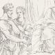 DÉTAILS 07   Mythologie - Renaissance Italienne - Les Amours de Psyché et de Cupidon (Eros) : Les Soeurs de Psyché devenues Reines (Raffaello Sanzio dit Raphaël)