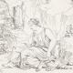 DÉTAILS 04   Mythologie - Renaissance Italienne - Les Amours de Psyché et de Cupidon (Eros) : Psyché Emportée par Zéphyr (Raffaello Sanzio dit Raphaël)