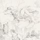 DÉTAILS 05   Mythologie - Renaissance Italienne - Les Amours de Psyché et de Cupidon (Eros) : Psyché Emportée par Zéphyr (Raffaello Sanzio dit Raphaël)