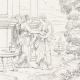 DÉTAILS 06   Mythologie - Renaissance Italienne - Les Amours de Psyché et de Cupidon (Eros) : Psyché Emportée par Zéphyr (Raffaello Sanzio dit Raphaël)