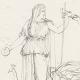 DETAILS 05   Roman / Greek Mythology - Goddess - Italian Renaissance - Alegorical Deities With Their Attributes (Raffaello Sanzio called Raphael)