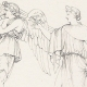 DETAILS 06   Roman / Greek Mythology - Goddess - Italian Renaissance - Alegorical Deities With Their Attributes (Raffaello Sanzio called Raphael)