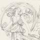 DETAILS 08   Roman / Greek Mythology - Goddess - Italian Renaissance - Alegorical Deities With Their Attributes (Raffaello Sanzio called Raphael)
