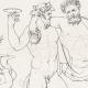 DETAILS 04 | Greek Mythology - Greek Gods - Satyrs - Italian Renaissance - Silenus, Companion of the Wine-god Dionysus (Raffaello Sanzio called Raphael)