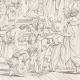 DETAILS 08   IN-FOLIO (Raisin / Grape) - Greek Mythology - Ancient Greece - Italian Renaissance - The School of Athens, or Philosophy (Raffaello Sanzio called Raphael)