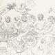 DÉTAILS 07 | IN-FOLIO (Raisin) - Mythologie - Renaissance Italienne - Les Amours de Psyché et de Cupidon (Eros) : Noces de Psyché / Apothéose de Psyché (Raffaello Sanzio dit Raphaël)