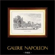 Vue de Paris - Monuments Historiques de Paris - Avenue des Champs-Élysées - Palais de l'Industrie | Gravure sur bois originale dessinée par M. Lalanne, gravée par H. Boetzel. 1870