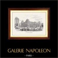 Vue de Paris - Monuments Historiques de Paris - Grands Magasins Parisiens - Les Magasins Réunis | Gravure sur bois originale gravée par E. Morin. 1870