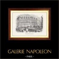 Gezicht op Parijs - Historische monumenten van Parijs - Militaire Parade - Boulevard des Italiens