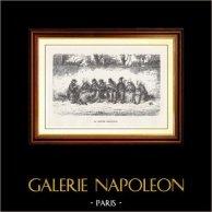 View of Paris - Historical Monuments of Paris - La Petite Provence | Original wood engraving engraved by H.J. Pisan. 1870