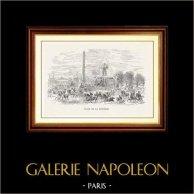 Vue de Paris - Monuments Historiques de Paris - Obélisque de Louxor - Place de la Concorde