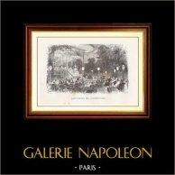 Vue de Paris - Monuments Historiques de Paris - Café-Chantant - Café-Concert des Champs-Élysées   Gravure sur bois originale dessinée par E. Morin, gravée par Coste. 1867