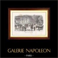Vista di Parigi - Monumenti Storici di Parigi Francia - Uscita del Ballo dell'Opera