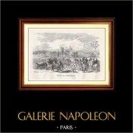 Vue de Paris - Monuments Historiques de Paris - Avenue de l'Impératrice (Avenue Foch) | Gravure sur bois originale gravée par N.E. Sotain. 1867