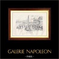 View of Paris - Historical Monuments of Paris - Rowing Club - Club des Canotiers
