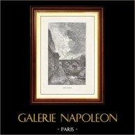 Vue de Paris - Monuments Historiques de Paris - Seine - Pont Marie et l'Île de la Cité | Gravure sur bois originale dessinée par Daubigny, gravée par H. Boetzel. 1867