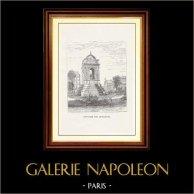 Vista di Parigi - Monumenti Storici di Parigi - Fonte - Fontaine des Innocents (I Arrondissement di Parigi ) | Incisione xilografica originale disegnata da M. Lalanne, incisa da Yon-perrichon. 1867